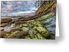 Green Stone Shore II Greeting Card