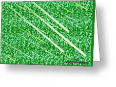 Green Streak Greeting Card