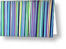 Green Stripe Greeting Card