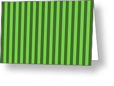 Green Striped Pattern Design Greeting Card
