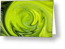 Green Swirl Greeting Card