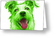 Green Terrier Mix 2989 - Wb Greeting Card