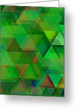 Green Triangles Over Green Mist Greeting Card
