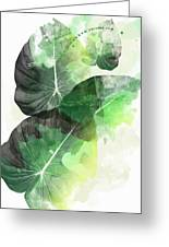Green Tropical Greeting Card