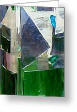 Green Vase Greeting Card