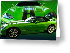 Green Viper Greeting Card