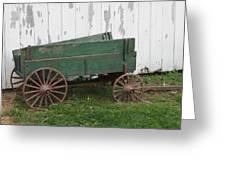 Green Wagon Greeting Card
