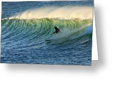Green Wall Surfer Greeting Card