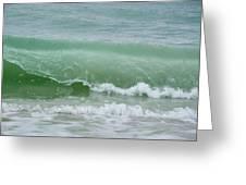 Green Wave Greeting Card