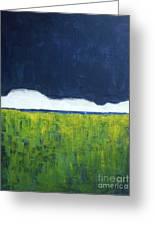 Green Wheat Field Greeting Card