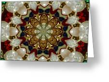 Green White Red Blue Kaleidoscope 1 Greeting Card