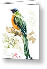 Green Wild Bird Greeting Card