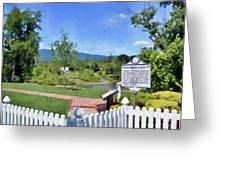 Greenbrier County Historical Marker In Alderson West Virginia Greeting Card