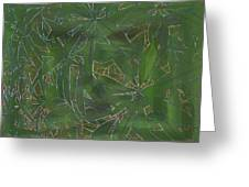 Greenery In Green Greeting Card