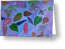 Colorful Leaves Greeting Card