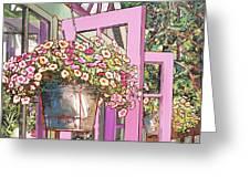 Greenhouse Doors Greeting Card