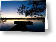 Greenlake Sunset Greeting Card