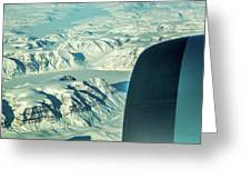 Greenland From Flight Level 380 Greeting Card