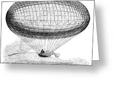 Greens Balloon, 1857 Greeting Card