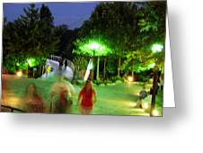 Greenville At Night Greeting Card