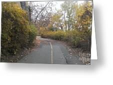 Greenway Trail In The Fall Greeting Card