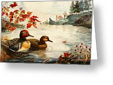 Greenwinged Teal Ducks Greeting Card