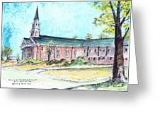 Greer United Methodist Church Greeting Card by Patrick Grills