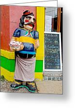 Greeter At Pizzeria In La Boca Area Of Buenos Aires-argentina- Greeting Card