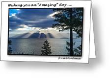 Greeting Card - Flathead Lake Greeting Card