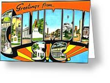 Greetings From Columbia South Carolina Greeting Card