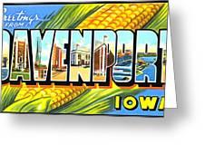 Greetings From Davenport Iowa Greeting Card