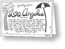 Greetings From Los Angeles Greeting Card
