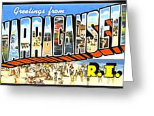 Greetings From Narragansett Rhode Island Greeting Card