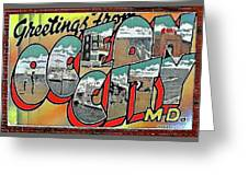 Greetings From Ocean City Greeting Card