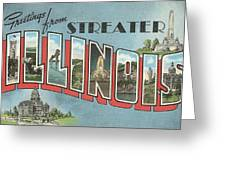 Greetings From Streater Illinois Greeting Card
