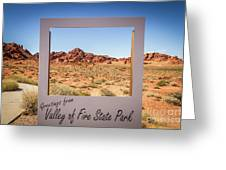 Greetings From Valley Of Fire Greeting Card