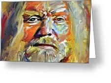 Greg  Allman Tribute Portrait Greeting Card