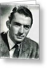 Gregory Peck Hollywood Actor Greeting Card