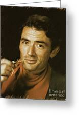 Gregory Peck, Vintage Actor Greeting Card