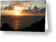 Grenadian Sunset I Greeting Card