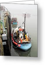 Gretel-k In The Fog - Lyme Regis Greeting Card
