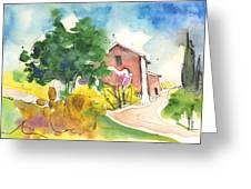 Greve In Chianti In Italy 01 Greeting Card
