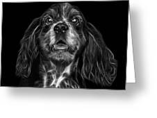 Greyscale Cocker Spaniel Pop Art - 8249 - Bb Greeting Card