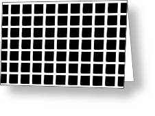 Black Squares Greeting Card