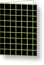 Grid Boxes In Black 09-p0171 Greeting Card