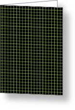 Grid Boxes In Black 30-p0171 Greeting Card