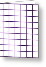 Grid Boxes In White 09-p0171 Greeting Card