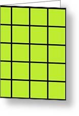 Grid In Black 05-p0171 Greeting Card