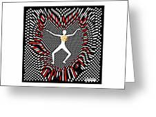 Grid Murder Scene Greeting Card