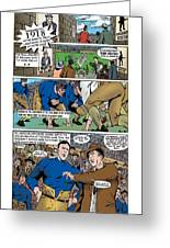 Gridiron The Beginning Page One Greeting Card